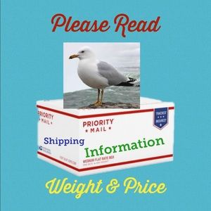 🐬 FYI: Shipping: Weight & Price